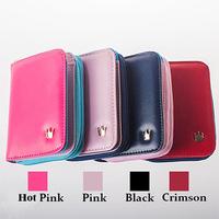 Crown short paragraph Women Wallets+Korean Version of the  New  Cute Fashion Multifunctional  two-fold zipper Purse  TB1014
