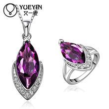 FVRS017 2015 new fine jewelry sets Extravagant Party jewlery set for lady Fashion Big Crystal set