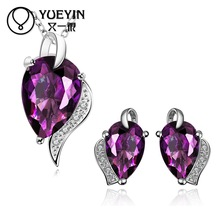 FVRS022 2015 new fine jewelry sets Extravagant Party jewlery set for lady Fashion Big Crystal set