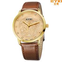 Hot Sale Products EYKI Fashionable Man Dragon Pearl Leather Watch Men'S Top Luxury Brand Quartz Watch