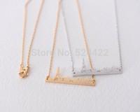 Min 1pc Small Paris Landscape Necklace Gold / Silver, Tiny Castle Landscape Pendant Neckalce XL-146