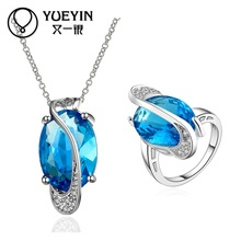 FVRS013 2015 new fine jewelry sets Extravagant Party jewlery set for lady Fashion Big Crystal set