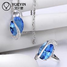 FVRS013 2015 new fine jewelry sets Extravagant Party jewlery set for lady Fashion Big Crystal set