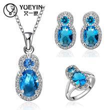FVRS032 2015 new fine jewelry sets Extravagant Party jewlery set for lady Fashion Big Crystal set