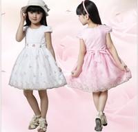 Peacemaker Girl dress girl clothing kids dress lace princess ball gown  summer little girl dress sleeveless3 layers