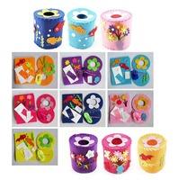 Free shipping Kids Toy DIY Craft Kit - Nonwoven Felt Tissue Holder  -15sets/lot LA0321