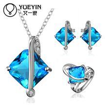 FVRS028 2015 new fine jewelry sets Extravagant Party jewlery set for lady Fashion Big Crystal set