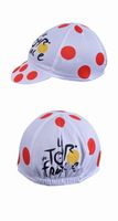 White dot Tour de france Hood Hat Cycling Cap Team Bike Ride Sportsweart Headgear Hot sale hat cool Bicycle Sportswear