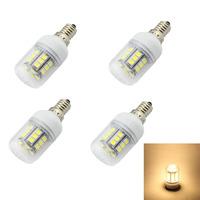 4pcs/lot E14 E12 E27 G9 GU10 27x5050 SMD Warm White LED bulb AC 220V 240V  Energy-saving LED Lamp High Quality LED lamp Tubes