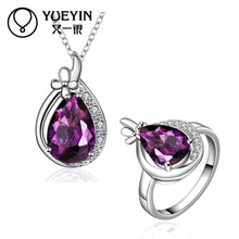 FVRS055 2015 new fine jewelry sets Extravagant Party jewlery set for lady Fashion Big Crystal set