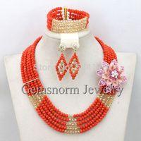 Amazing African Jewelry Sets 18K Nigerian Wedding Brides Gift Jewelry Set 2015 Perfect Women Jewelry Set Free Shipping GS866