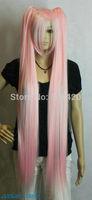 FSX590012W>>> Hatsune Miku Light Pink 100cm Extra Long Straight Cosplay Split Type Wig