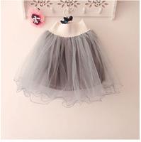 Retail children girls lace skirt Baby tutu skirt 2014 gray cake tutu girls skirts 2-8 years  ballet skirt
