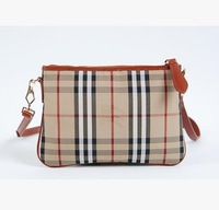 DA271 England Style grid delicate Genuine leather 100% wallet Handbag Messenger Bag Clutch wholesale drop shipping free shipping