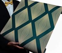 Geometric Design Modern Sapphire Blue Wallpaper 3D  zk34