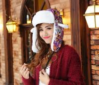 Winter keep warm hats for women  cap with ear flaps hip hop  Bomber Hat  men winter for women russian hat YJK-F100