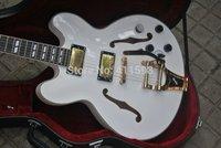 2015 New White Jazz Electric Guitar Bigsby Tremolo China guitars
