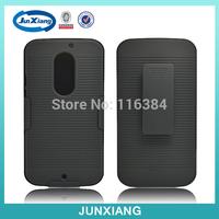 hot selling phone housing pc hoslter back with belt clip black case for motorola x1097