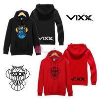 VIXX LOGO Hooded with LEO KEN RAVI hoodies for men and women plus velvet jacket kpop clothes vixx