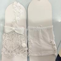 New Fashion Wrist Flower Lace Diamond Fingerless Bridal Gloves Wedding Gloves