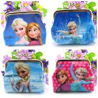New fashion 10pcs/lot baby girls Frozen Coin Purses kids Snow Queen wallet chilldren princess Elsa Anna money bag party supplies