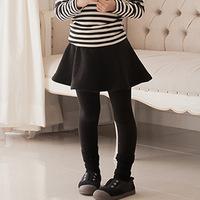 2014 children's clothing cotton fleece autumn and winter A word skirt culotte spot wholesale base