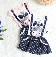 2014 new arrival Fashion Kids dot Dress Girls short Sleeve Princess Dresses children summer clothes girl casual dress(China (Mainland))
