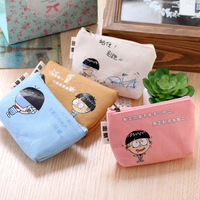 Classic Retro Canvas Tower Wallet Card Key Coin Purse Bag Pouch Case 4 pattern for Women Girl FH-001