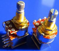 Free Shipping 20PCS Gold Plated Shaft Push Pull Audio B500K Switch Tone Control Pot Potentiometer Coarse Knurling Shaft
