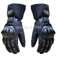 Motocross waterproof Winter Warm Protect Armed Climb Motorbike MTB Bicycle Racing Cycling Ski snowboard Motorcycle Gloves Black