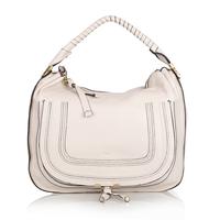 Top quality original brand marcie saddle real calf leather beige women handbag shoulder bag fashion gift free shipping wholesale