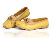 Fashion Spring/Autumn shoes flats non-slip soft bottom Sole soft leather Upper casual shoe women's singles 1 Pair Free Shipping