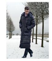 Winter Mens Outer Duckdown Hooded Long Warm Coat Parka Puffer jacket Outwear Z