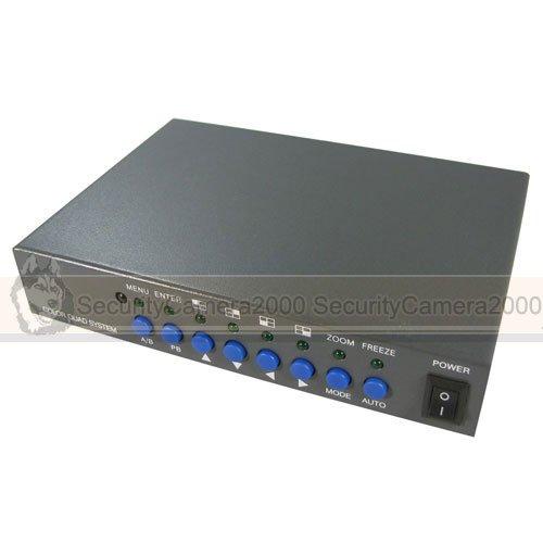8 CH Camera Video Quad Processor Splitter with VGA Video Output(China (Mainland))