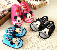 New  Arrive Spring/ Autumn Kids Indoor Floor Shoes Children Home Shoes  Mikey Pantufa Girls/Boys Soft Firstwalker chinelo