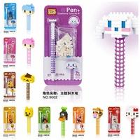 48pcs/lot DHL Free LOZ Diamond Blocks Builing Bricks Educational DIY Set Toys for Children Gift Pen Kitty Cat Dog Boy Winnie