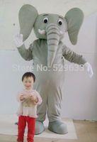 2014 high quality Grey elephant mascot costume adult Grey elephent mascot costume free shipping