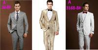High Quality Men Wool Suits 2015 Newest Coat+Pants 2PCS Fashion Design Business&Prom Suits Plus Size 4XL 1X55