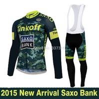 2015 Saxo Bank Tinkoff New Cycling Jersey Long Sleeve Bike bib Pants Kits Spring&Autumn Ropa Ciclismo Clothing MTB maillot!