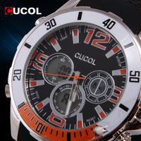 CUCOL Digital Clock Luxury Brand Men's Sport Waterproof Watches Rubber Strap LED Male Clock Digital Wristwatch Reloj Hombre