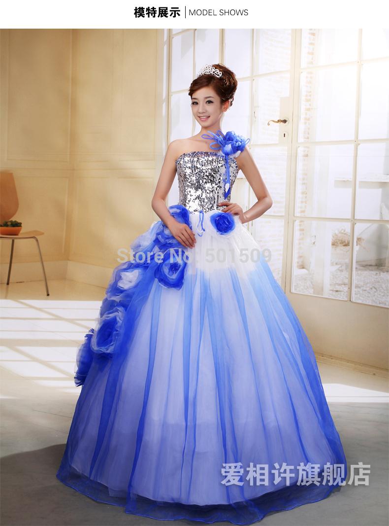 Silver Sequins Bead Royal Blue Medieval Dress Renaissance Gown Princess Victorian Gothic Marie
