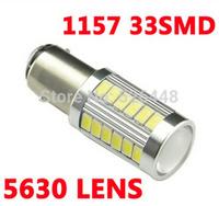 2x 1157 33SMD 5630 LENS 5630 1157 led 5630 smd Backup Front Rear Turn Signal Brake Stop Parking light Lamp 12V