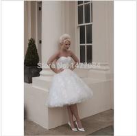 Latest Style Sweetheart Knee Length  Wedding Dresses 2014141115141