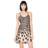 Gradient leopard print halter sexy cross back dress