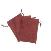 Qumei 50pcs Small Vintage Jute Burlap Bag with drawstring can custom logo  Natural Gunny Sacking Pouches