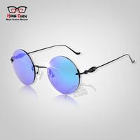 2014 Hot Sale Vintage Sunglasses women brand designer Retro Unisex Round  Sun Glasses Popular Stylish Eyewear gafas de sol men
