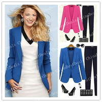 New Arrival Solid Color Turn Down Collar Fashion Design Stylish Long Sleeve Women Blazer In Autumn And Winter Work Style Outwear