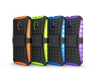 Mix color TPU&PC Dual Armor case with Stand for moto g2   In Stock Free Shipping 50 pcs