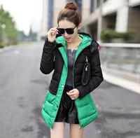 2014 Korean Slim Women fashion cotton jacket stitching wild warm cotton jacket free shipping