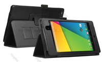 150 pcs/lot   for Asus Google Nexus 7 II  2nd Generation 2013 PU Leather Smart Stand Cover Case